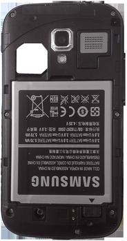 Samsung I8160 Galaxy Ace II - Primeros pasos - Quitar y colocar la batería - Paso 3