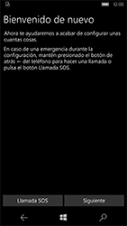 Microsoft Lumia 950 - Primeros pasos - Activar el equipo - Paso 6