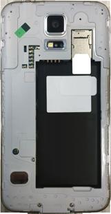 Samsung G900F Galaxy S5 - Primeros pasos - Quitar y colocar la batería - Paso 4