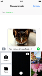 Apple iPhone 6s iOS 11 - MMS - Escribir y enviar un mensaje multimedia - Paso 15