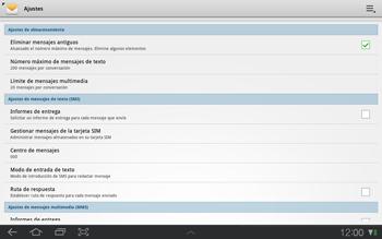 Samsung P7500 Galaxy Tab 10-1 - MMS - Configurar el equipo para mensajes de texto - Paso 5