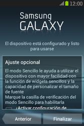 Samsung S6310 Galaxy Young - Primeros pasos - Activar el equipo - Paso 14