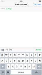 Apple iPhone 6 Plus iOS 8 - MMS - Escribir y enviar un mensaje multimedia - Paso 8