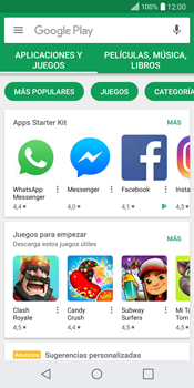 LG Q6 - Aplicaciones - Descargar aplicaciones - Paso 3