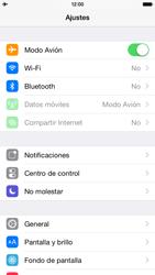 Apple iPhone 6 iOS 8 - Red - Activar o desactivar el modo avión - Paso 4