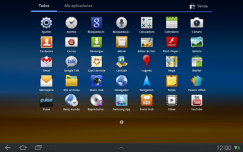 Samsung P7500 Galaxy Tab 10-1 - MMS - Configurar el equipo para mensajes de texto - Paso 3