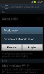 Samsung I8260 Galaxy Core - Red - Activar o desactivar el modo avión - Paso 6