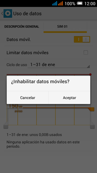 Alcatel Pop C9 - Internet - Activar o desactivar la conexión de datos - Paso 7