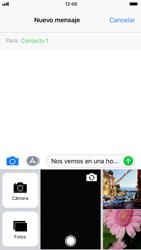 Apple iPhone 6s iOS 11 - MMS - Escribir y enviar un mensaje multimedia - Paso 11