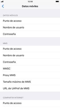 Apple iPhone 8 Plus - MMS - Configurar el equipo para mensajes multimedia - Paso 8