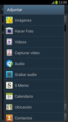 Samsung I9300 Galaxy S III - MMS - Escribir y enviar un mensaje multimedia - Paso 13