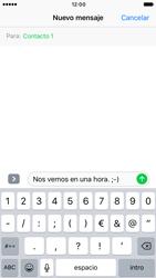 Apple iPhone 6s iOS 10 - MMS - Escribir y enviar un mensaje multimedia - Paso 8