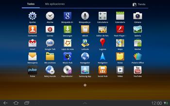 Samsung P7500 Galaxy Tab 10-1 - Internet - Activar o desactivar la conexión de datos - Paso 3