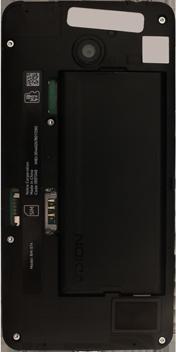 Nokia Lumia 635 - Primeros pasos - Quitar y colocar la batería - Paso 3