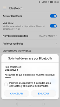 Huawei Mate 9 - Connection - Conectar dispositivos a través de Bluetooth - Paso 6