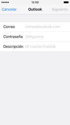 Apple iPhone SE - E-mail - Configurar Outlook.com - Paso 6