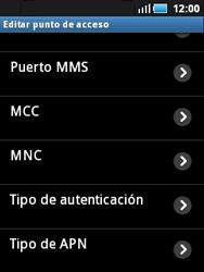 Samsung S5570 Galaxy Mini - MMS - Configurar el equipo para mensajes multimedia - Paso 11
