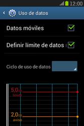 Samsung S6310 Galaxy Young - Internet - Ver uso de datos - Paso 10