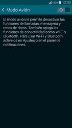 Samsung G850F Galaxy Alpha - Red - Activar o desactivar el modo avión - Paso 5