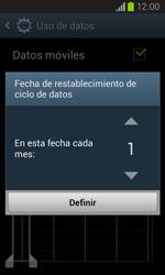 Samsung I8260 Galaxy Core - Internet - Ver uso de datos - Paso 7