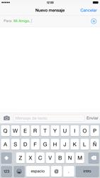 Apple iPhone 6 Plus iOS 8 - MMS - Escribir y enviar un mensaje multimedia - Paso 7