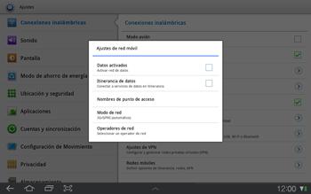 Samsung P7500 Galaxy Tab 10-1 - Internet - Activar o desactivar la conexión de datos - Paso 6