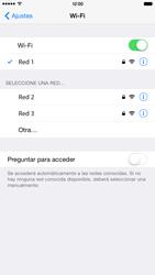 Apple iPhone 6 Plus iOS 8 - WiFi - Conectarse a una red WiFi - Paso 7
