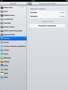 Apple iPad 2 - Internet - Ver uso de datos - Paso 6