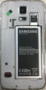 Samsung G900F Galaxy S5 - Primeros pasos - Quitar y colocar la batería - Paso 7