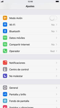 Apple iPhone 7 Plus iOS 11 - Red - Activar o desactivar el modo avión - Paso 3