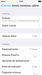 Apple iPhone 6 iOS 8 - E-mail - Configurar Outlook.com - Paso 9