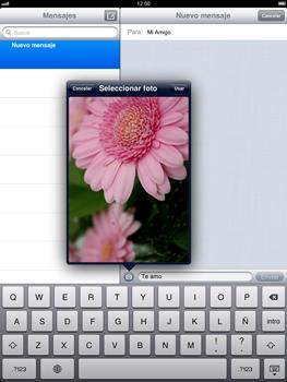 Apple iPad 2 - MMS - Escribir y enviar un mensaje multimedia - Paso 11