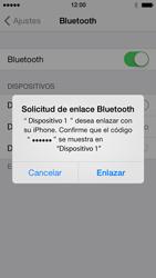 Apple iPhone 5s - Connection - Conectar dispositivos a través de Bluetooth - Paso 6