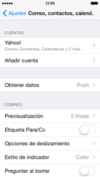 Apple iPhone 6 iOS 8 - E-mail - Configurar Yahoo! - Paso 10