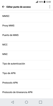 LG Q6 - Internet - Configurar Internet - Paso 11