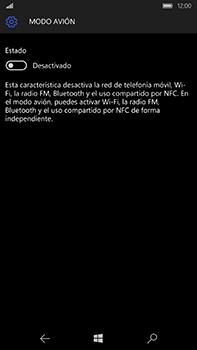 Microsoft Lumia 950 XL - Red - Activar o desactivar el modo avión - Paso 6