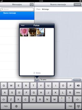 Apple iPad 2 - MMS - Escribir y enviar un mensaje multimedia - Paso 10