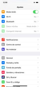 Apple iPhone X - Red - Activar o desactivar el modo avión - Paso 4
