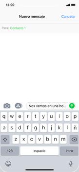 Apple iPhone X - MMS - Escribir y enviar un mensaje multimedia - Paso 9