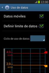 Samsung S6310 Galaxy Young - Internet - Ver uso de datos - Paso 11