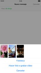 Apple iPhone 6 Plus iOS 8 - MMS - Escribir y enviar un mensaje multimedia - Paso 9