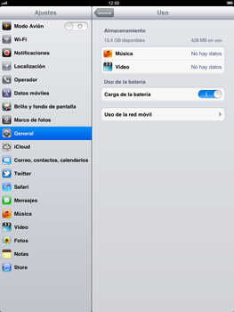 Apple iPad 2 - Internet - Ver uso de datos - Paso 5
