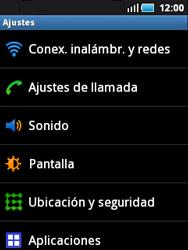 Samsung S5570 Galaxy Mini - Internet - Activar o desactivar la conexión de datos - Paso 4