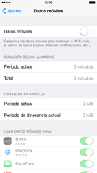Apple iPhone 6 iOS 8 - Internet - Activar o desactivar la conexión de datos - Paso 5