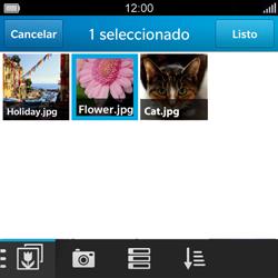 BlackBerry Q5 - MMS - Escribir y enviar un mensaje multimedia - Paso 12