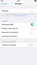 Apple iPhone 6 Plus iOS 8 - MMS - Configurar el equipo para mensajes multimedia - Paso 12