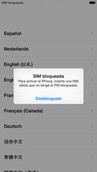 Apple iPhone 6 iOS 8 - Primeros pasos - Activar el equipo - Paso 3