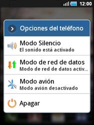 Samsung S5570 Galaxy Mini - Red - Activar o desactivar el modo avión - Paso 3