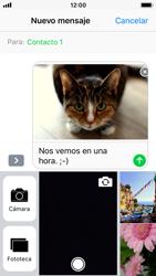 Apple iPhone SE - iOS 11 - MMS - Escribir y enviar un mensaje multimedia - Paso 14