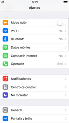 Apple iPhone 6s iOS 11 - Red - Activar o desactivar el modo avión - Paso 3